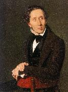Christian Albrecht Jensen Portrait of Hans Christian Andersen oil painting artist